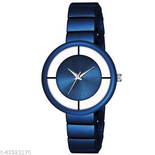 New Fashion Round Dial Watch - Csamon_33_Blue