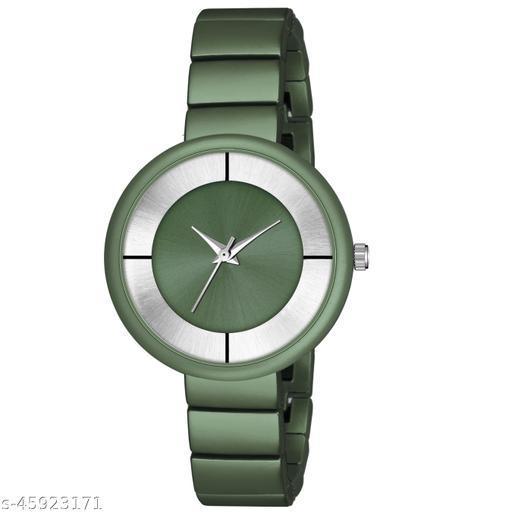 New Fashion Round Dial Watch - Csamon_33_Green