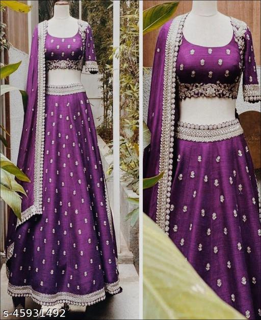 Purple color Jalpari Silk Lehenga Choli