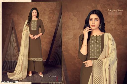 Chinon Silk Designer Salwar kameez With Dupatta