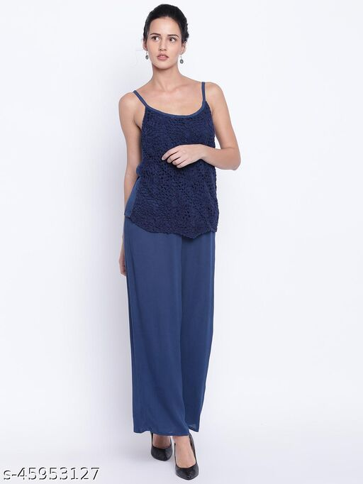 I AM FOR YOU Navy Blue  Jumpsuit