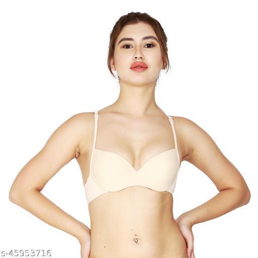 Women's Padded underwired Push up T Shirt Multiway Bra (Beige)(GLPB269B1)