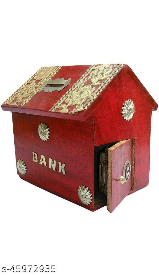 Aliferous wooden Piggy bank