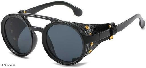 Poloshades Black Unisex Oval Sunglasses