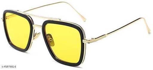 Poloshades Yellow Men Rectangular Sunglasses