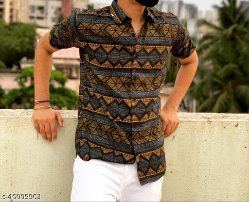 Men's Printed Unstitched Shirt Fabric