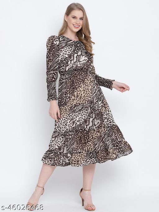 Magical mezz lined printed women dress