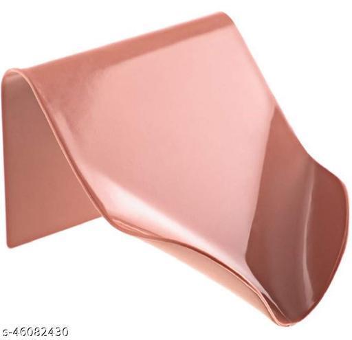 UPKARANWALE Creative Punch-Free Red soap Holder Saver Box for Bathroom Kitchen Shower