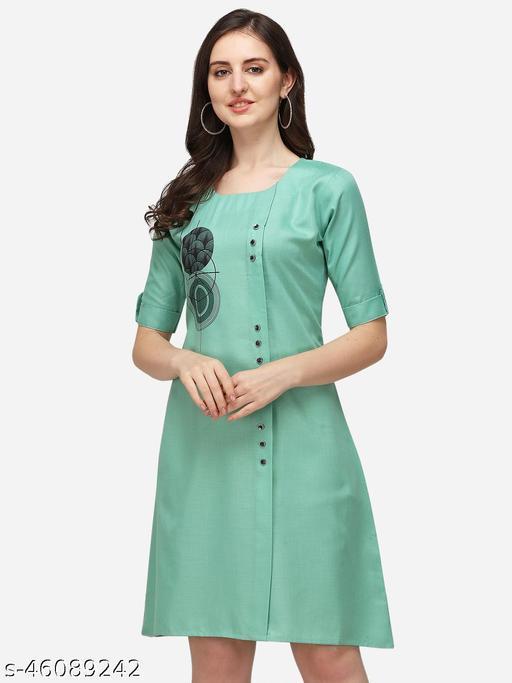Stylish Retro Women Rayon Sulb Dresses