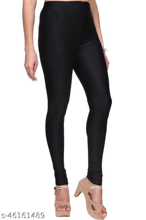 BS Creation Churidar Ethnic Wear Legging (Black, Solid)