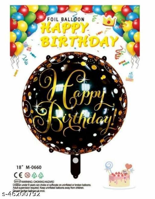 Advik Enterprises Balloon for Birthday Party Decoration & Occasions / Black