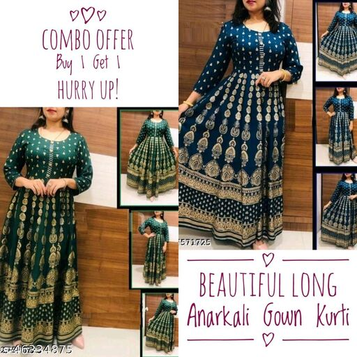 Combo of Long Anarkali Gown
