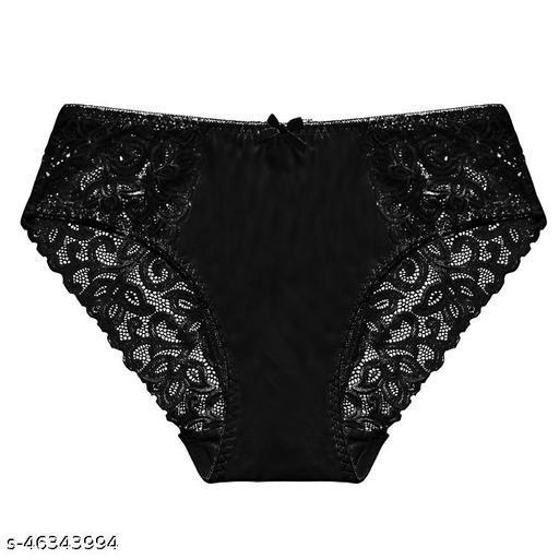 Women Bikini Black Net Panty