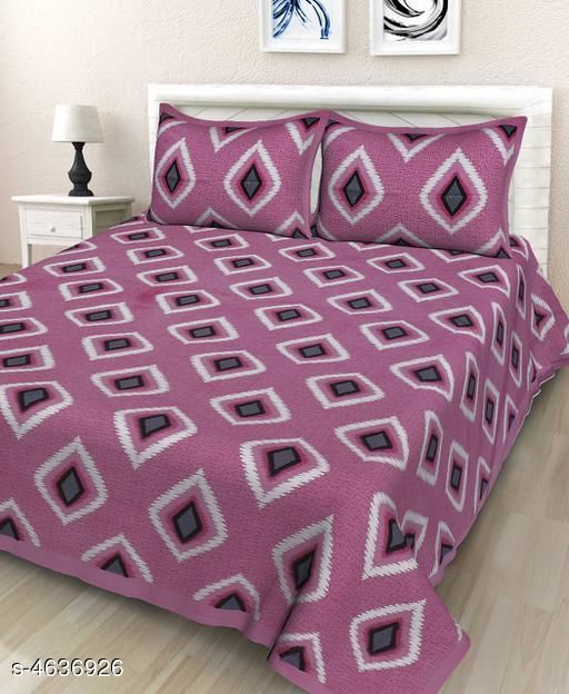 Trendy Cotton 90X90 Double Bedsheet