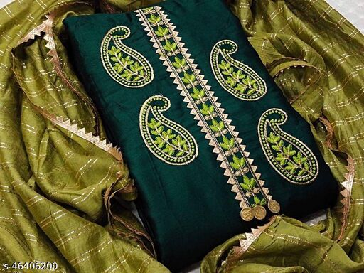 Exclusive Dress Material Suit  For Women Green color ds04