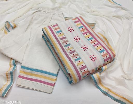 SAINOOR Women'S Multi Colour Colour Straight Style Printed Dress Material (2 Mtr) - 11071H