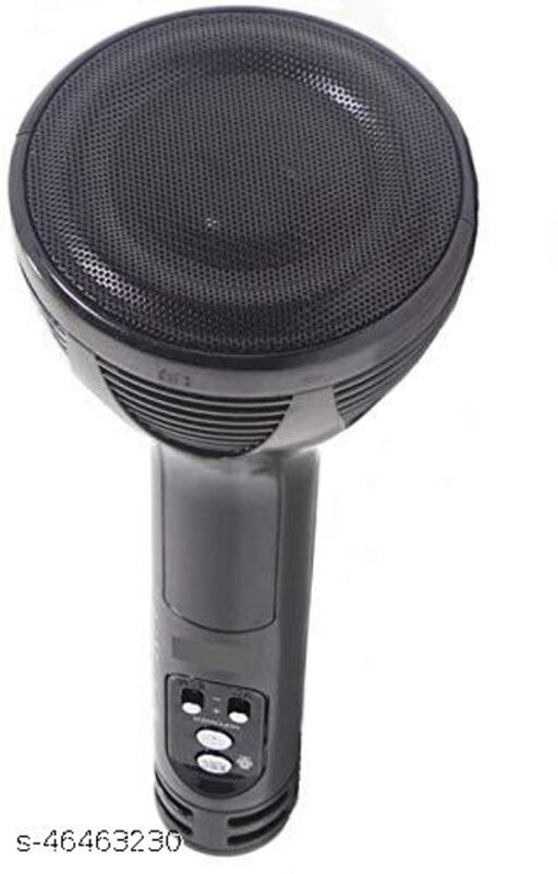 Superier Quality Karaoke Mic Wireless Bluetooth Microphone Connection Player Speaker 2-in1 With Recording + USB+FM (black colour)