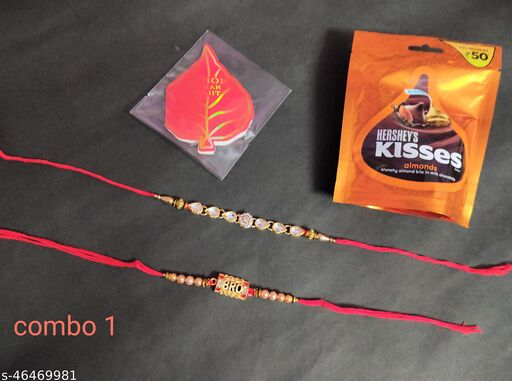 2 Brother Rakhies With Roli Chawal and Chocolate Pack