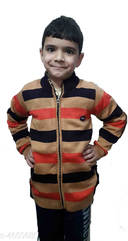 Sweaters Divine Graceful Kids Boys Sweater  *Fabric* Acrylic Yarn  *Size* Age Group (6 - 7 Years) - 28 in Age Group (7 - 8 Years) - 30 in Age Group (8 - 9 Years) - 30 in Age Group (9 - 10 Years) - 32 in  *Type* Stitched  *Description* It Has 1 Pack Of Kid's Boy's Sweater  *Patter* Striped  *Sizes Available* 4-5 Years, 5-6 Years, 6-7 Years, 7-8 Years, 8-9 Years, 9-10 Years *   Catalog Rating: ★3.4 (5)  Catalog Name:  Divine Graceful Kids Boy's Sweaters Vol 14 CatalogID_674629 C59-SC1178 Code: 043-4650680-