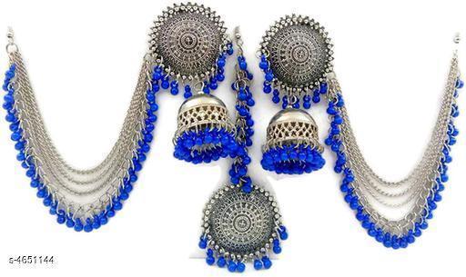 Trendy Stylish Oxidized Silver Women's Jewellery Set