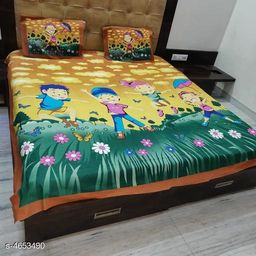 Comfy Stylish Cotton Double Bedsheet