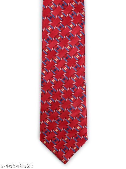 Calvadoss Premium Geometrical Design Woven broad Tie