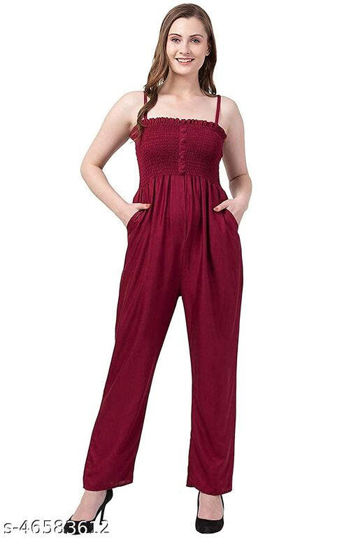 Trendy and Stylish Solid Maroon Jumsuit for women