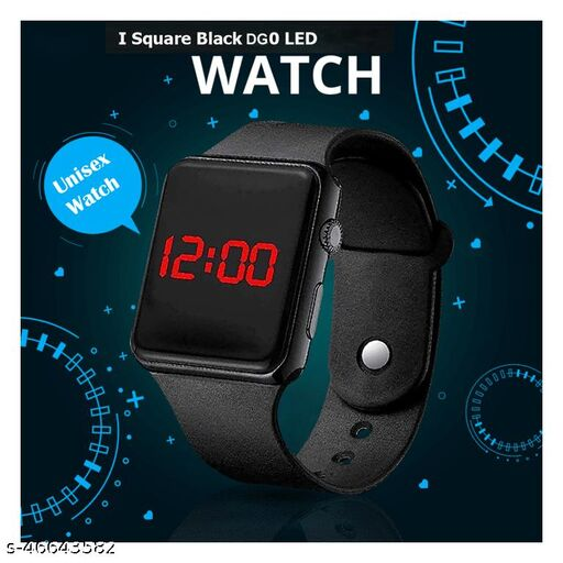 DG0 Digital LED Watch For Unisex DG0 Square Led Watch