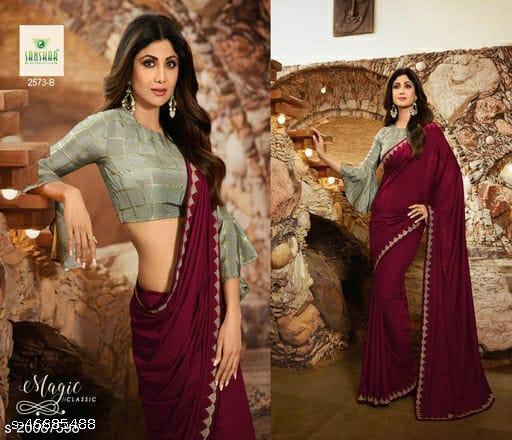 Shilpa maroon saree