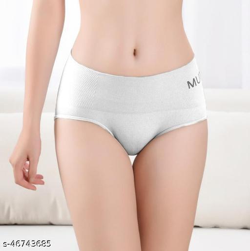 Women Seamless White Cotton Panty
