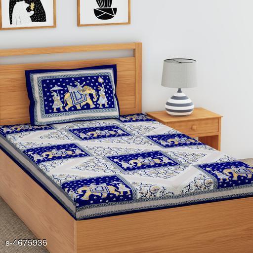 Fancy Cotton 90 X 60 Single Bedsheets