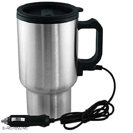 Steel Travel Outdoor Electric Mug 12 V Car Charging Electric Kettle Travel Coffee Mug Cup Heated Thermos 450 Ml