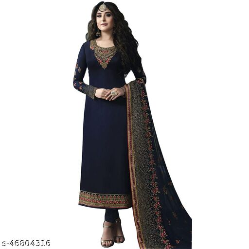 JEEYOFAB Designer Anakali Salwar Suit Gown For Womens And Girls