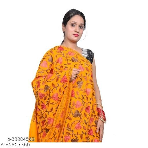 Kcwoolcare , smooth quality Classy trendy stylist multicolured designed Embrodary work   Woman Shawl