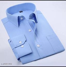 Trendy Cotton Blend Men's Shirt