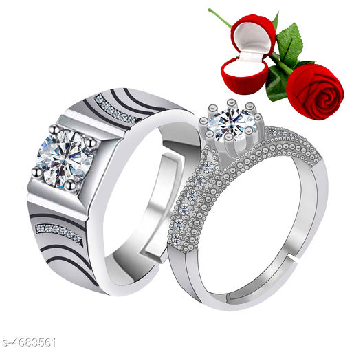 Shimmering Charming Couple Rings