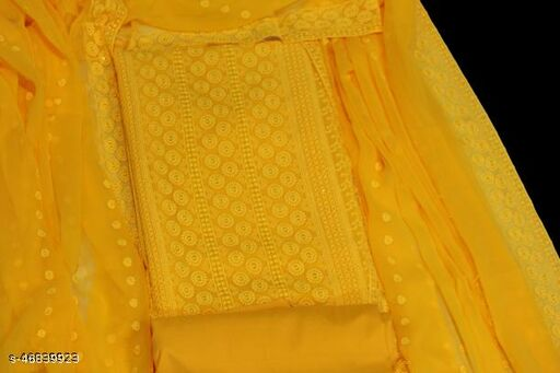 ethnic studio present's angoori design New Fabulous Unstitched Salwar suit Chiffon Dress Material Embroidered Work With Dupatta Salwar Suit For Woman's&Girl's