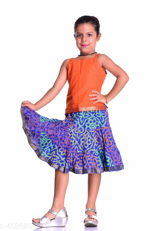 Clothing Sets Stylish Cotton Girl's Clothing Sets  *Material* Cotton   *Sleeves* Sleeves Are Not Included   *Size* Age Group - 1 - 2 Years, 2 - 3 Years, 4 - 5 Years, 6 - 7 Years, 8 - 9 Years, 9 - 10 Years, 10 - 11 Years   *Type* Stitched   *Description* It Has 1 Piece Of Girl's Top & 1 Piece Of Girl's Skirt   *Work* Printed  *Sizes Available* 2-3 Years, 4-5 Years, 6-7 Years, 8-9 Years, 9-10 Years, 10-11 Years, 1-2 Years *    Catalog Name:  Agile Trendy Cotton Printed Skirt Sets Vol 2 CatalogID_51222 C62-SC1147 Code: 975-468623-