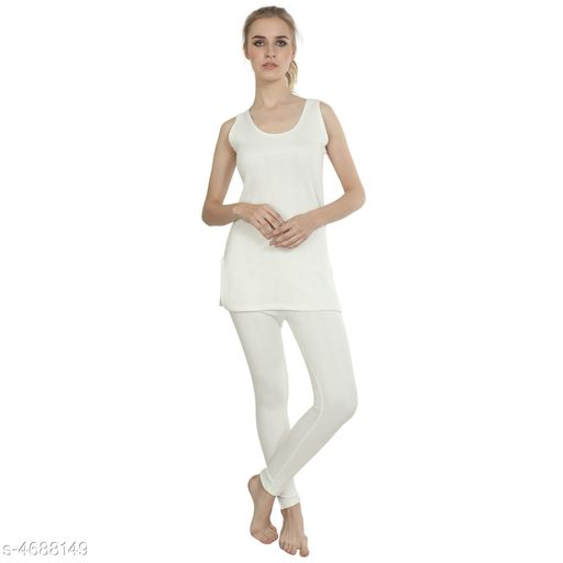 Thermal Tops Attractive Trendy Cotton Women's Thermal Tops & Bottom Sets   *Fabric* Cotton  *Sleeves* Full Sleeves Are Not Included  *Size* Top - S - 30 in,  M - 32 in, L - 34 in, XL - 36 in, XXL - 38 in, 3XL - 40 in, Bottom - S - 28 in, M - 30 in, L - 32 in, XL - 34 in, XXL - 36 in, 3XL - 38 in  *Length* Top - Up To 20 in, Bottom - Up To 40 in  *Type* Stitched  *Description* It Has 1 Piece Of Thermal Tops & 1 Pieces Of Bottoms  *Pattern* Solid  *Sizes Available* S, M, L, XL, XXL, XXXL *   Catalog Rating: ★3.8 (29)  Catalog Name: Attractive Trendy Cotton Women's Thermal Tops & Bottom Sets Vol 3 CatalogID_680740 C76-SC1056 Code: 255-4688149-