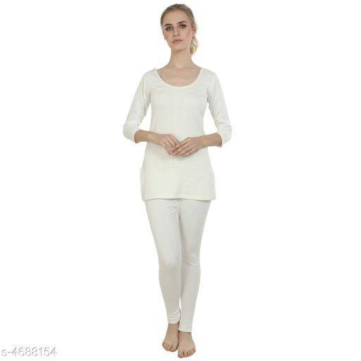 Thermal Tops Attractive Trendy Cotton Women's Thermal Tops & Bottom Sets   *Fabric* Cotton  *Sleeves* Full Sleeves Are Included  *Size* Top - S - 30 in,  M - 32 in, L - 34 in, XL - 36 in, XXL - 38 in, 3XL - 40 in, Bottom - S - 28 in, M - 30 in, L - 32 in, XL - 34 in, XXL - 36 in, 3XL - 38 in  *Length* Top - Up To 20 in, Bottom - Up To 40 in  *Type* Stitched  *Description* It Has 1 Piece Of Thermal Tops & 1 Pieces Of Bottoms  *Pattern* Solid  *Sizes Available* S, M, L, XL, XXL, XXXL *   Catalog Rating: ★3.8 (29)  Catalog Name: Attractive Trendy Cotton Women's Thermal Tops & Bottom Sets Vol 3 CatalogID_680740 C76-SC1056 Code: 255-4688154-