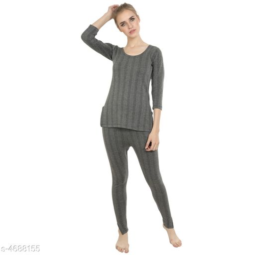 Thermal Tops Attractive Trendy Cotton Women's Thermal Tops & Bottom Sets   *Fabric* Cotton  *Sleeves* Full Sleeves Are Included  *Size* Top - S - 30 in,  M - 32 in, L - 34 in, XL - 36 in, XXL - 38 in, 3XL - 40 in, Bottom - S - 28 in, M - 30 in, L - 32 in, XL - 34 in, XXL - 36 in, 3XL - 38 in  *Length* Top - Up To 20 in, Bottom - Up To 40 in  *Type* Stitched  *Description* It Has 1 Piece Of Thermal Tops & 1 Pieces Of Bottoms  *Pattern* Solid  *Sizes Available* S, M, L, XL, XXL, XXXL *   Catalog Rating: ★3.8 (29)  Catalog Name: Attractive Trendy Cotton Women's Thermal Tops & Bottom Sets Vol 3 CatalogID_680740 C76-SC1056 Code: 255-4688155-