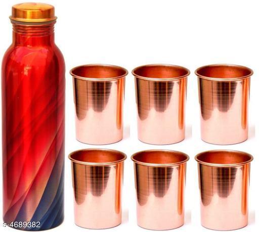Classic Copper Bottle & Glasses