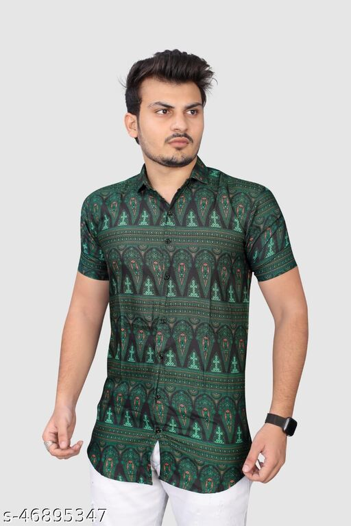 Men's Premium Cotton Casual half Sleeve Shirt