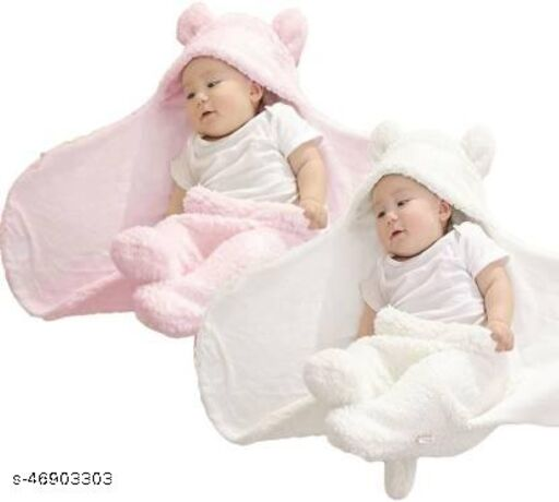 Pack of 2-First Sleep Ultra Soft Baby Blanket For Winters And Summers Both Ac Blanket And For New Born Babies Perfectly Designed To Make Feel Your Baby Warm And Hygenic Baby Towel New Born Baby Gift And Cloth Baby Wrapper Flannel Sheet Baby Hooded Blanket