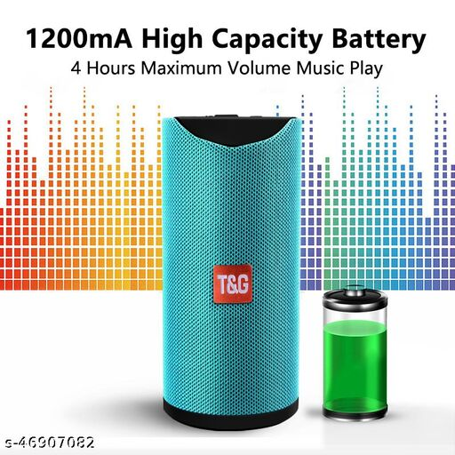 TG-113 Portable Bluetooth Speaker With Cylindrical Shape (Green)