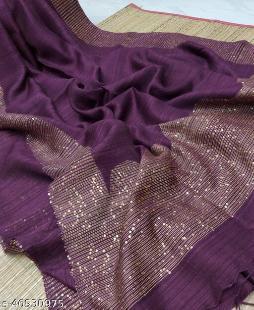 Woman's Super quality Motka with Sequence Pallu Sarees