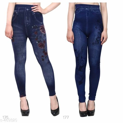 Fancy Polycotton Jeggings (Pack of 2)