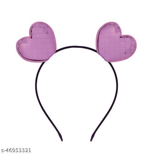 STRIPES Heart Ears Light Violet Color Hairband Headband For Children/Kids Party Hair Accessories Women's/Girl/baby girls