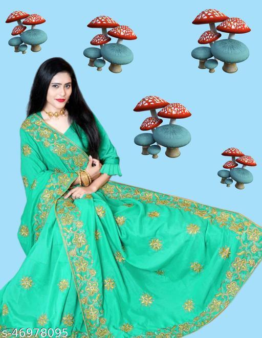 Dhaga and jari C pallu Embroidery Saree