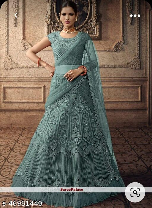 NEW DESIGNER WEDDING WEAR EMBROIDERY WORK AND REAL DAIMOND WORK  CHOLI   EMBROIDERY WITH  NET DUPATTA AP 5065N